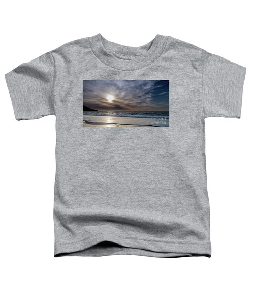 Sunset Over West Coast Beach With Silk Clouds In The Sky Toddler T-Shirt