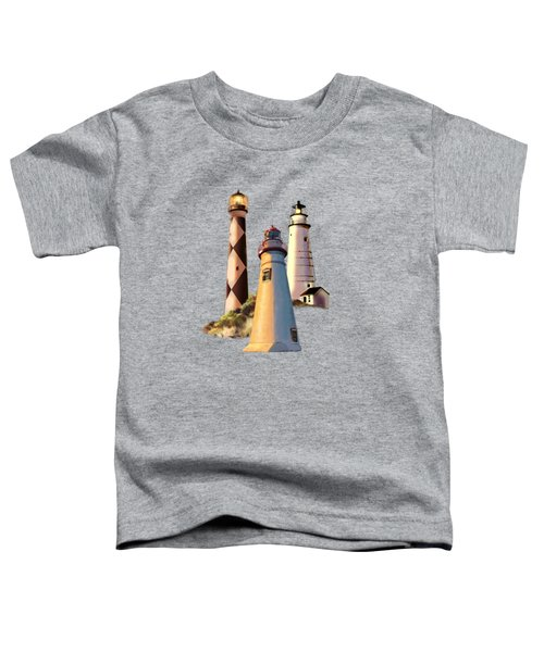 Sunset With Ohio Marble Head Lighthouse Toddler T-Shirt