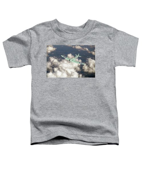 Toddler T-Shirt featuring the photograph Supermarine Spitfire Prototype K5054 by Gary Eason