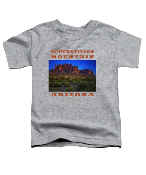 Superstition Mountain Sunset Toddler T-Shirt