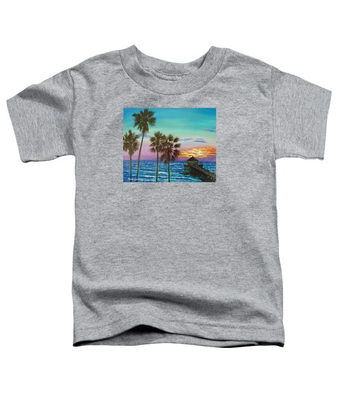 Surf City Sunset Toddler T-Shirt