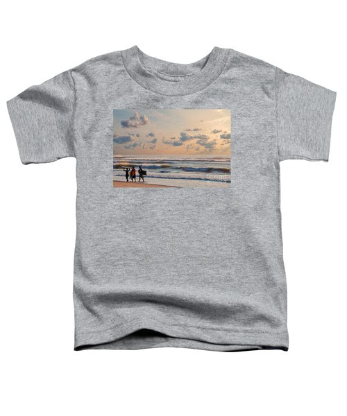 Surfing At Sunrise On The Jersey Shore Toddler T-Shirt