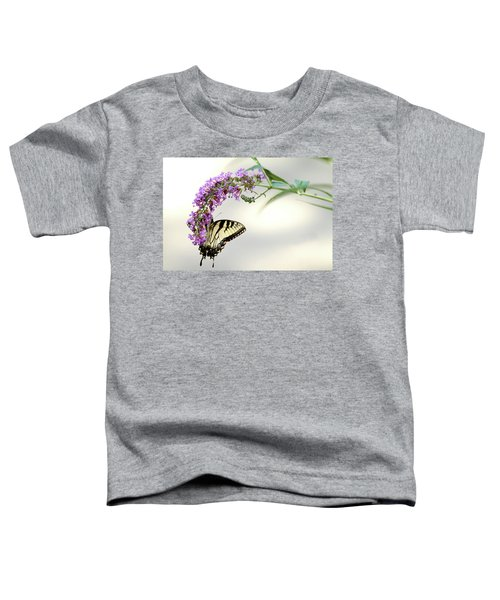 Swallowtail On Purple Flower Toddler T-Shirt