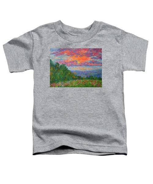 Sweet Pea Morning On The Blue Ridge Toddler T-Shirt