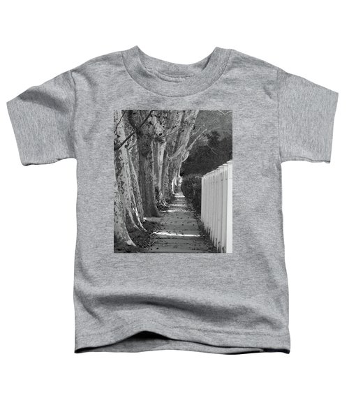 Sycamore Walk-grayscale Version Toddler T-Shirt