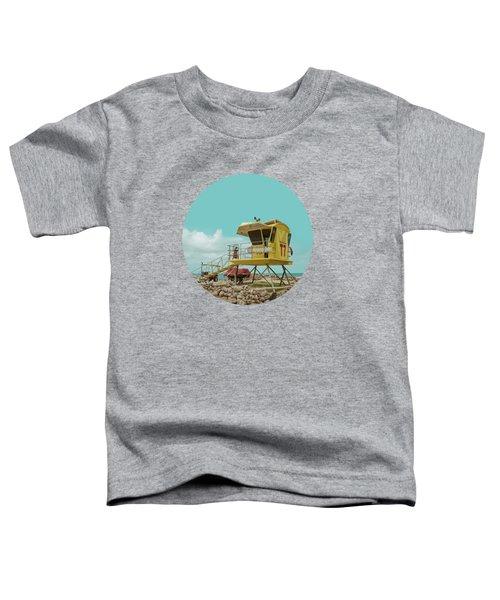 T7 Lifeguard Station Kapukaulua Beach Paia Maui Hawaii Toddler T-Shirt