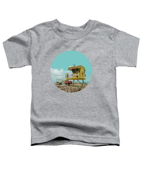 T7 Lifeguard Station Kapukaulua Beach Paia Maui Hawaii Toddler T-Shirt