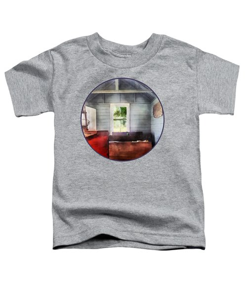 Teacher - One Room Schoolhouse With Hurricane Lamp Toddler T-Shirt