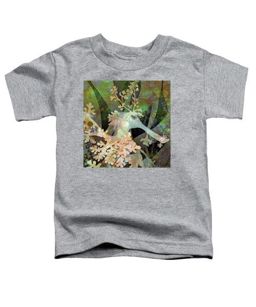 Teal Leafy Sea Dragon Toddler T-Shirt