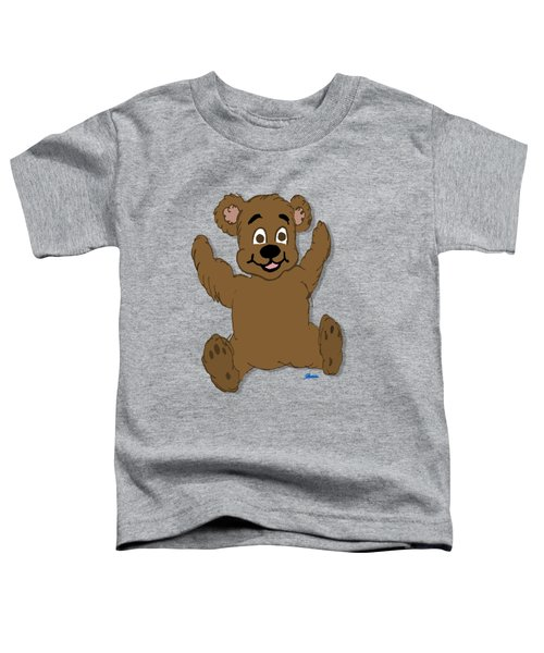 Teddy's First Portrait Toddler T-Shirt by Pharris Art