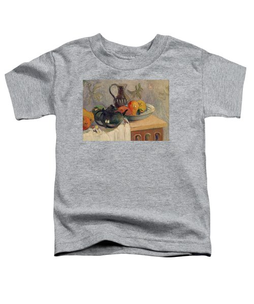 Teiera Brocca E Frutta Toddler T-Shirt by Paul Gauguin