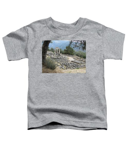 Temple Of Athena At Delphi Toddler T-Shirt