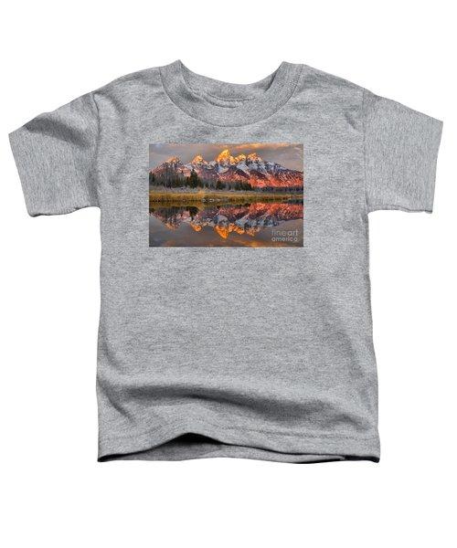 Teton Mountains Sunrise Rainbow Toddler T-Shirt