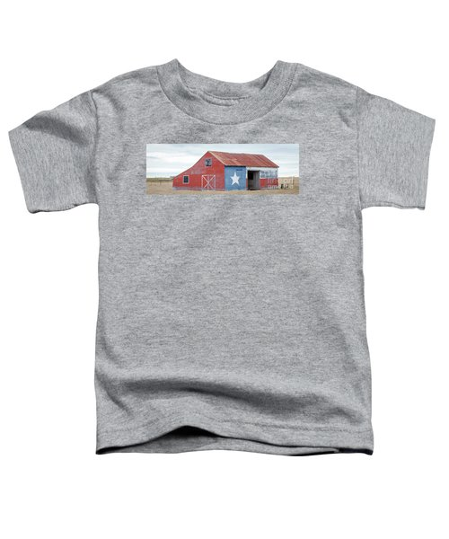 Texas Barn With Goats And Ram On The Side Toddler T-Shirt