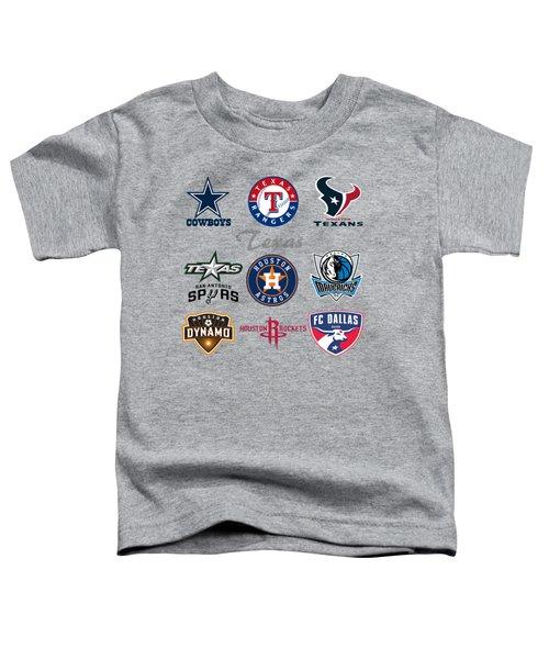 Texas Professional Sport Teams Toddler T-Shirt