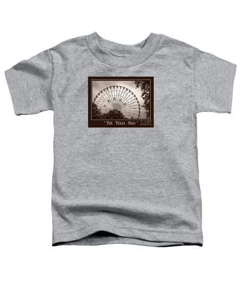 Texas Star In Sepia Toddler T-Shirt