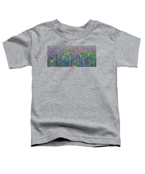 Texas Wildflowers Abstract Toddler T-Shirt