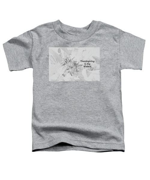 Thanks Giving Toddler T-Shirt