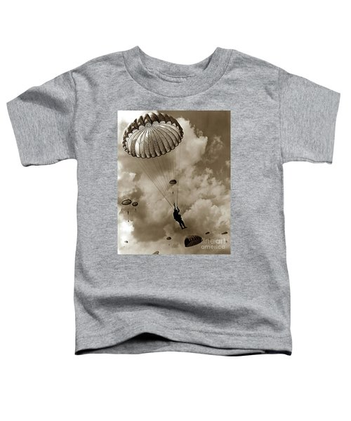 The 82nd Airborne  Hits The Silk Fort Ord 1953 Toddler T-Shirt