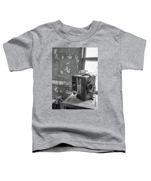 The Abandoned Projector Bw Toddler T-Shirt