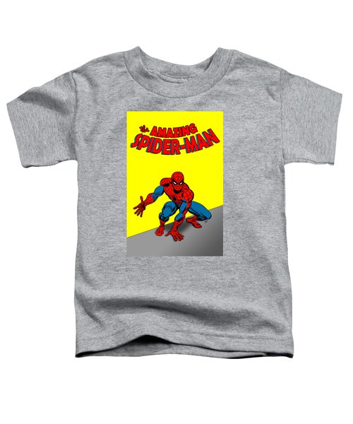 Toddler T-Shirt featuring the painting The Amazing Spider-man by Antonio Romero