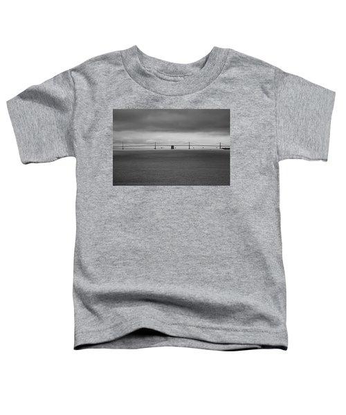 The Bay Bridge B/w Toddler T-Shirt