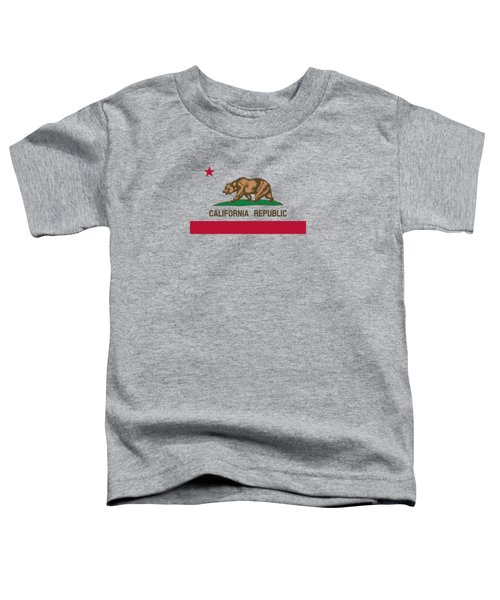 The Bear Flag - State Of California Toddler T-Shirt by War Is Hell Store