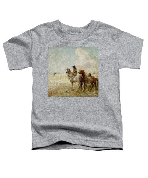 The Bison Hunters Toddler T-Shirt by Nathaniel Hughes John Baird