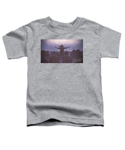 Toddler T-Shirt featuring the painting The Black Wizard by Tithi Luadthong