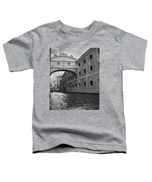 The Bridge Of Sighs, Venice, Italy Toddler T-Shirt by Richard Goodrich
