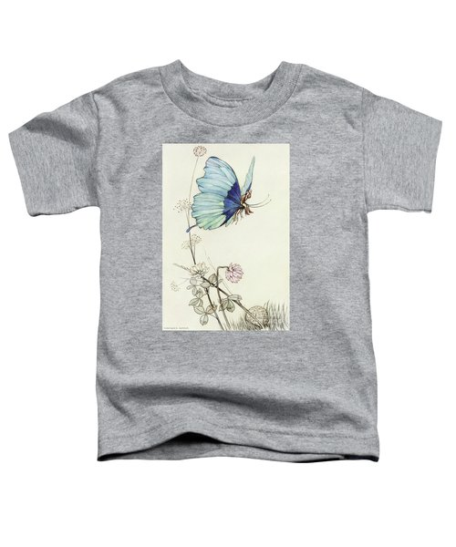 The Butterfly Took Wing, And Mounted Into The Air With Little Tom Thumb On His Back Toddler T-Shirt