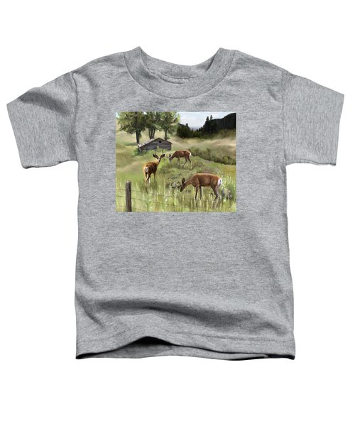 Toddler T-Shirt featuring the painting The Calm by Susan Kinney