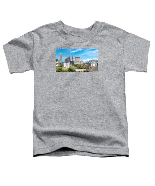 The Cleveland Skyline Toddler T-Shirt