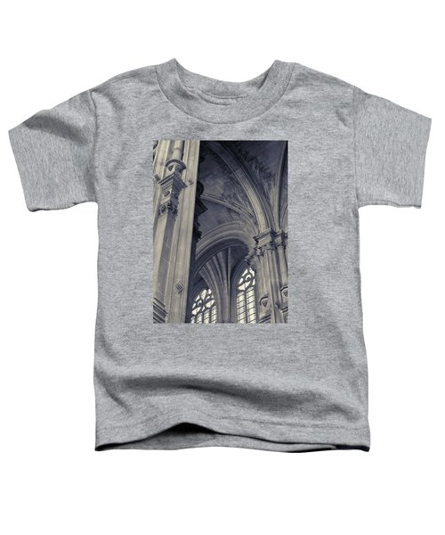 Toddler T-Shirt featuring the photograph The Columns Of Saint-eustache, Paris, France. by Richard Goodrich