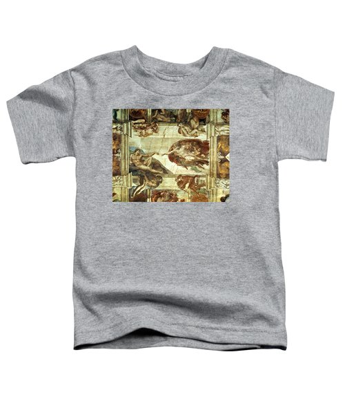 The Creation Of Adam Toddler T-Shirt