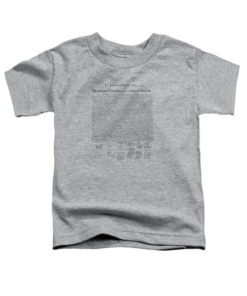 The Declaration Of Independence Toddler T-Shirt by War Is Hell Store