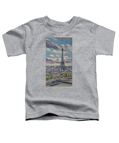 The Eiffel Tower Paris Toddler T-Shirt by Nop Briex