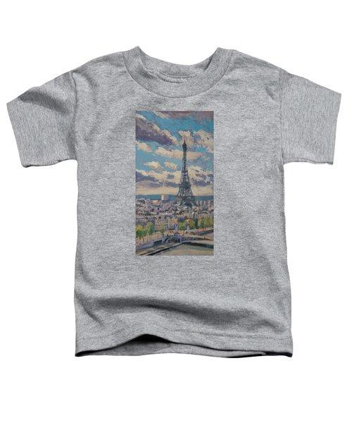 The Eiffel Tower Paris Toddler T-Shirt