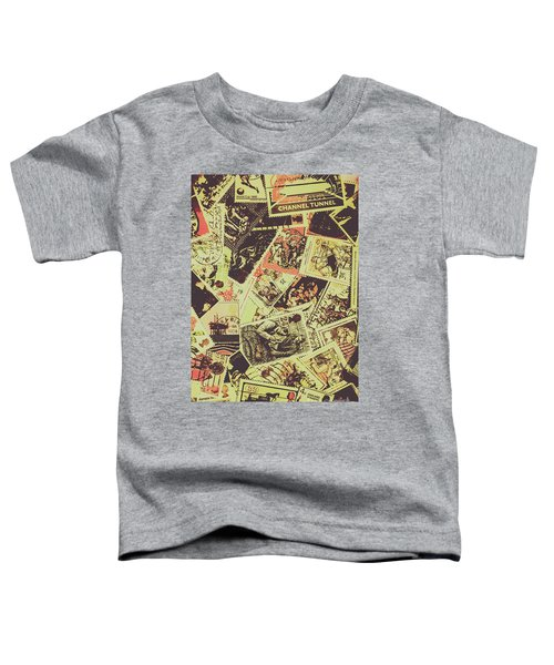 The English Postage Scene Toddler T-Shirt