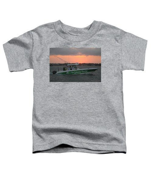 The Greene Turtle Power Boat Toddler T-Shirt