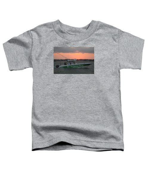 The Greene Turtle Power Boat Toddler T-Shirt