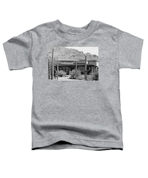 The High Chaparral Set With Sign Old Tucson Arizona 1969-2016 Toddler T-Shirt