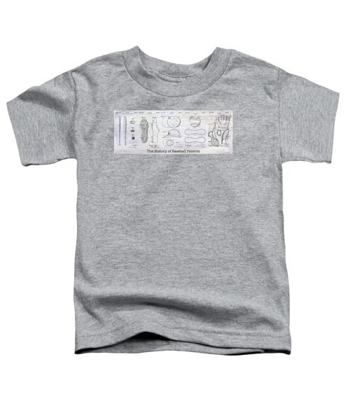 The History Of Baseball Patents Toddler T-Shirt by Jon Neidert
