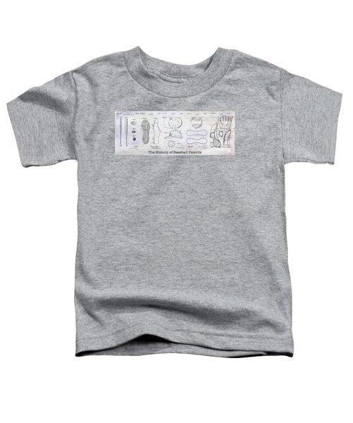 The History Of Baseball Patents Toddler T-Shirt
