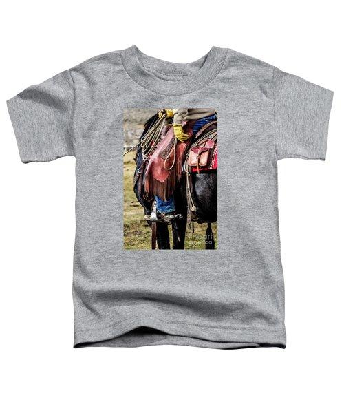 The Idaho Cowboy Western Art By Kaylyn Franks Toddler T-Shirt