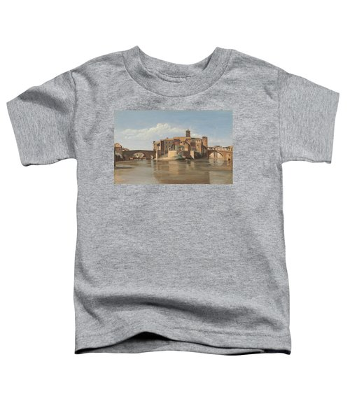The Island And Bridge Of San Bartolomeo - Rome Toddler T-Shirt