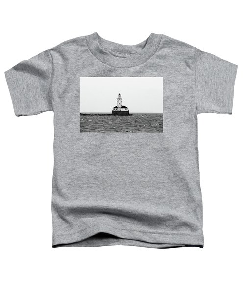 The Lighthouse Black And White Toddler T-Shirt