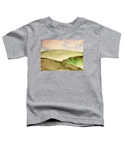 Toddler T-Shirt featuring the painting The Little Hills Rejoice by Antonio Romero