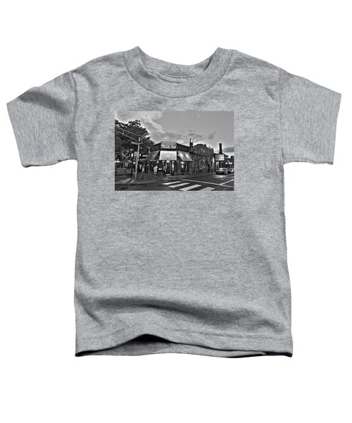 The Middle East In Central Square Cambridge Ma Black And White Toddler T-Shirt