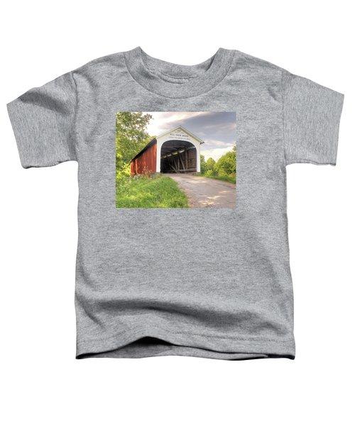 The Mill Creek Covered Bridge Toddler T-Shirt